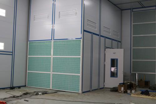 Камера подготовки и окраски для воздушных судов в Авиационно-техническом центре (г. Астана, Казахстан)