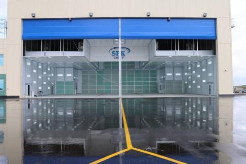 Камера подготовки и окраски для самолетов Airbus в Авиационно-техническом центре SPK-30.33.9,5