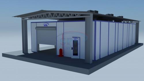 Уличный комплекс подготовки и покраски для нефтяного оборудования  SPK 15.5.3.