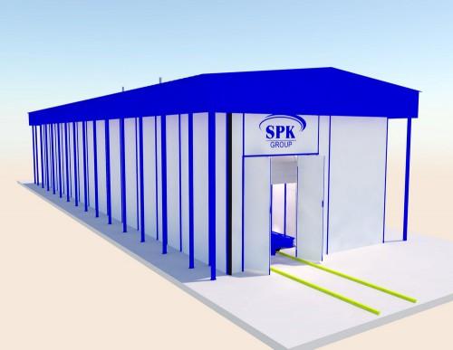 Уличный комплекс подготовки и покраски поверхности SPK-27.9.4