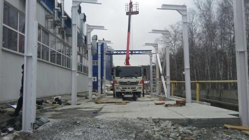 Уличная дробеструйная камера с навесом SPK-24.6.5, г. Миасс