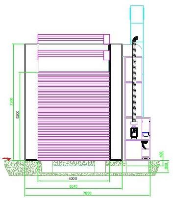 Окрасочно-сушильная камера для Ж/Д вагонов с возможностью разделения на 7 и 15 м SPK-22x6x6.5 Россия