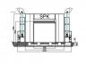 Окрасочная камера для крупногабаритных металлоконструкций SPK 32.9.6.