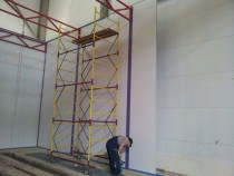 Возведение Моечной камеры для мойки двигателей на Заводе по производству дизельных двигателей GEVO в Астане (Казахстан)
