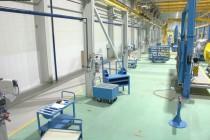 Расстановка технологической линии на Заводе по производству дизельных двигателей GEVO в Астане