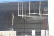 Продолжается строительство покрасочно-сушильной камеры для авиатехники в Астане (Казахстан)