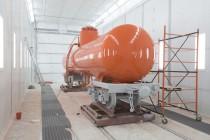 В цехе реконструкции ж/д транспорта при Музее Свердловской железной дороги состоялся запуск окрасочно-сушильной камеры производства SPK GROUP