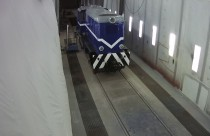 В окрасочно-сушильной камере SPK GROUP закончен процесс окраски тепловоза Т-48.