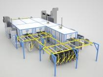 Комплекс подготовки, окраски и сушки поверхности 37х20х4 м для сварных металлоконструкций из стальных и алюминиевых листов и профильных труб в проекте от SPK GROUP.