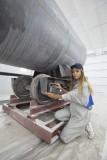 Подготовка металлоконструкций к покраске в камере
