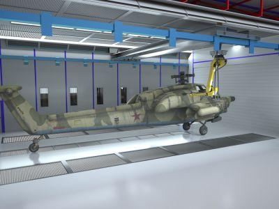 Роботизированная окраска вертолетов