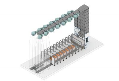 Проект зоны открытой окраски с телескопической камерой.