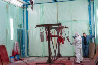 Тестовая окраска в окрасочно-сушильной камере SPK в В.Луках