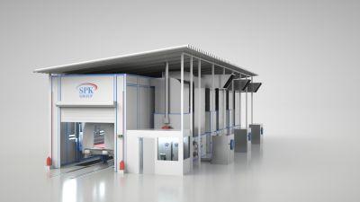 Для железнодорожной техники: проект проходной камеры окраски вагонов SPK