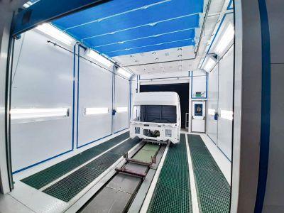 Решение для покраски и сушки кабин грузовых автомобилей