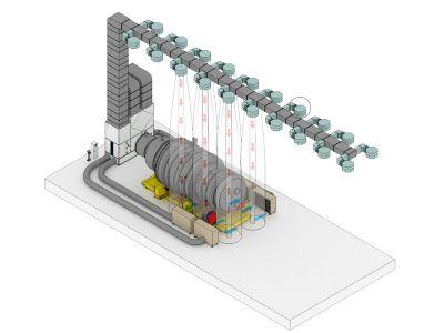 Специализированная вентиляция для окраски нефтегазохимического оборудования