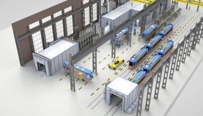 Проект комплекса подготовки и покраски для вагонов от SPK GROUP