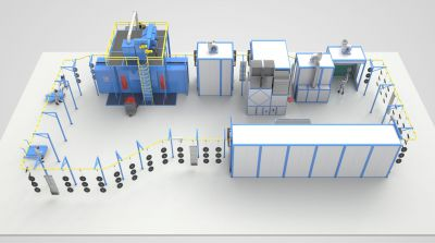 Проект линии окраски SPK для производителя деталей агротехники