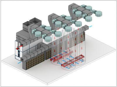 Зона открытой окраски металлоконструкций нефтегазового комплекса