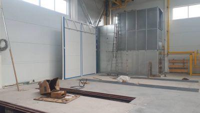 Начался монтаж окрасочно-сушильного комплекса, состоящего из двух камер SPK для металлоконструкций в Новосибирске