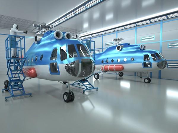 Производство окрасочно-сушильных камер для вертолетов