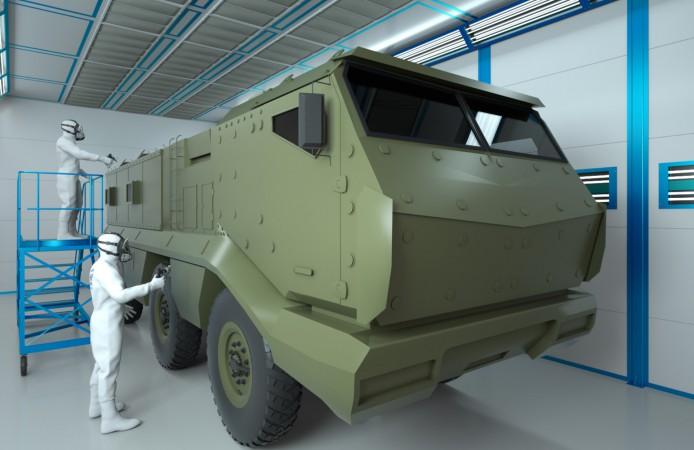 Производство покрасочных камер для военной техники