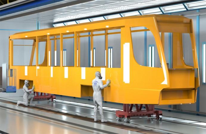 Покрасочно-сушильные камеры для трамвайных вагонов