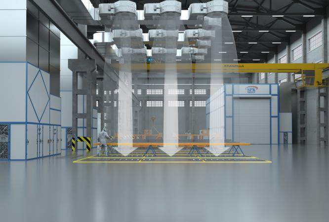 Зоны открытой окраски для строительных металлоконструкций