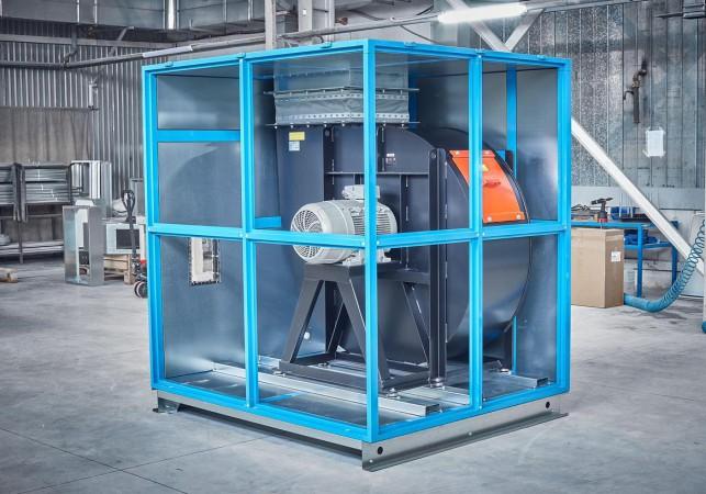 Радиальный вентилятор для вентиляционно-фильтровальной установки для дробеструйной камеры SPK