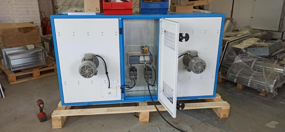 Вентиляционная установка для порошковой окраски. Производство 15.06.21