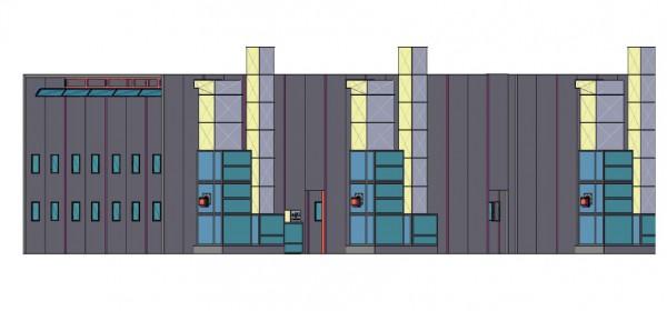 Камера для подготовки и окраски калийных вагонов Уличного исполнения SPK-70.7.6