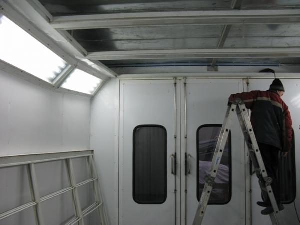 Монтаж покрасочной камеры