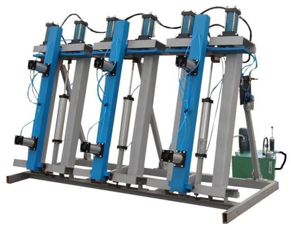 Прессы пневмогидравлические для склеивания бруса VESP 3000_1350-250; 6000_1350-250; 12000_1350-250