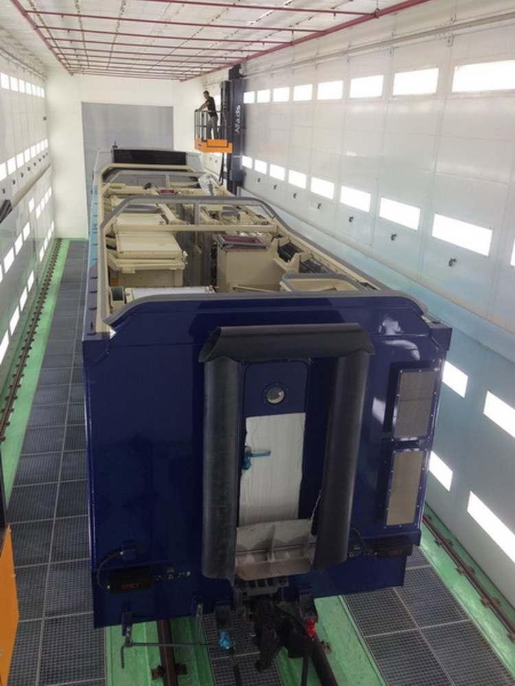 Электровозосборочный завод/ Покрасочно-сушильная камера для локомотивов Alstom