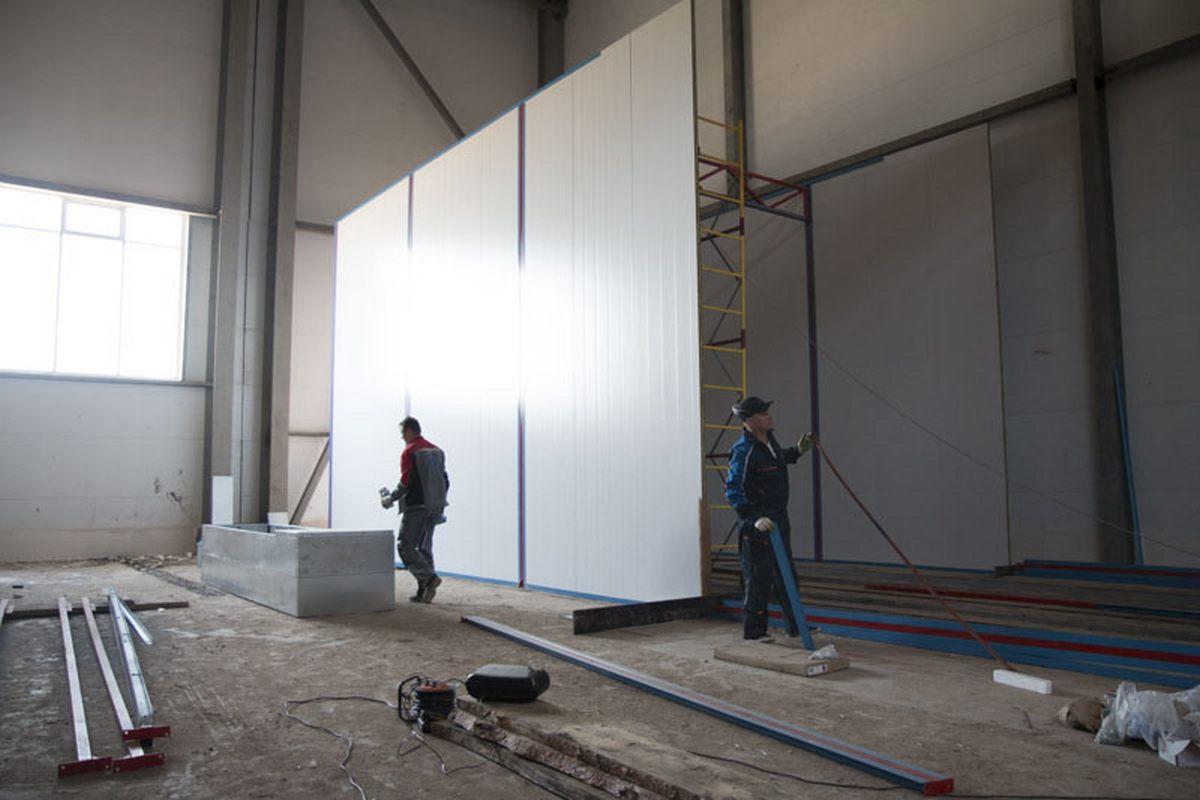 Завод по производству дизельных двигателей для локомотивов GEVO. Строительство моечной камеры.