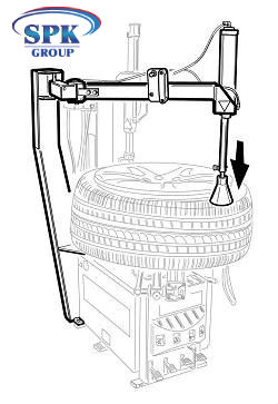 Отжиматель борта пневматический для A2015/20/25 CORGHI 8-11100100