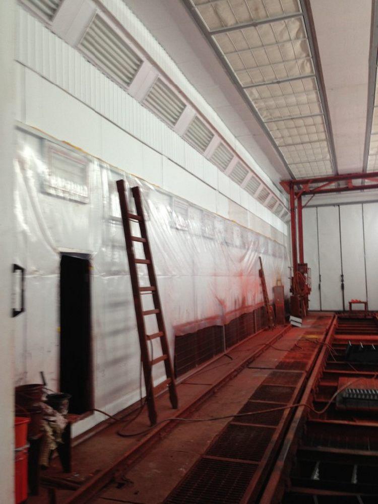 Реконструкция окрасочно-сушильной камеры для вагонов РПМ, Екатеринбург