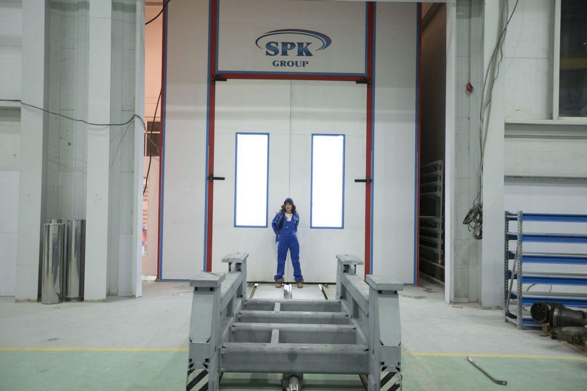 Моечная камера для дизельных двигателей. Завод по производству дизельных двигателей GEVO.