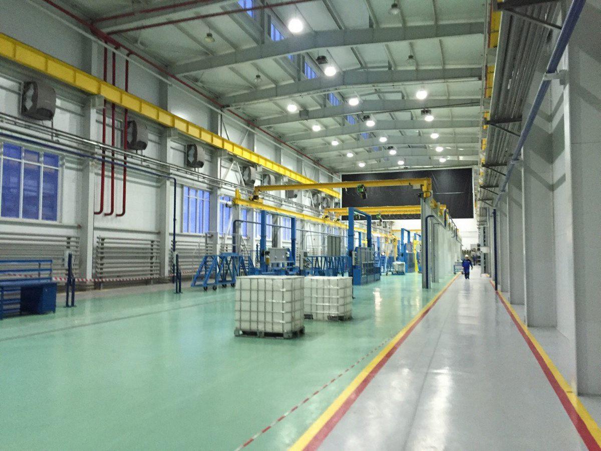 Оснащение технологическим оборудованием Завода по производству дизельных двигателей GEVO.