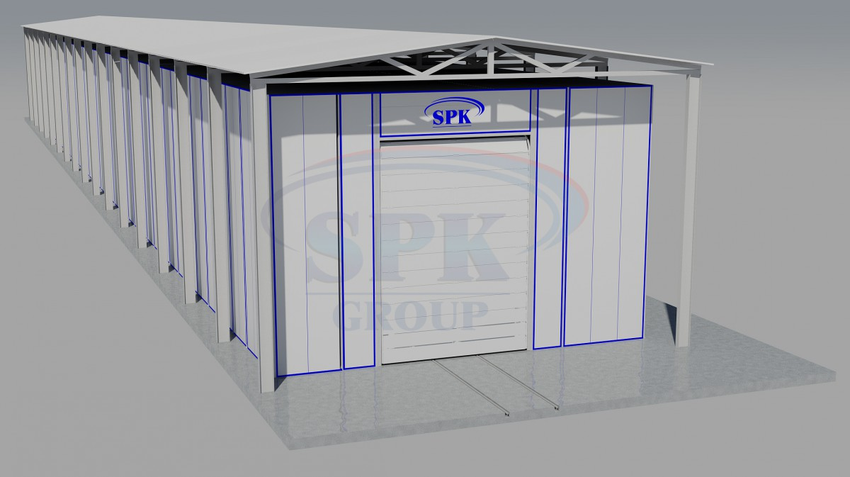 Проходной комплекс подготовки и покраски для вагонов ж/д SPK-90.8.7