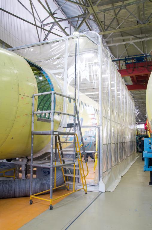 Телескопическая камера для окраски самолетов гражданской авиации SPK-14.6.6, г. Комсомольск-на-Амуре