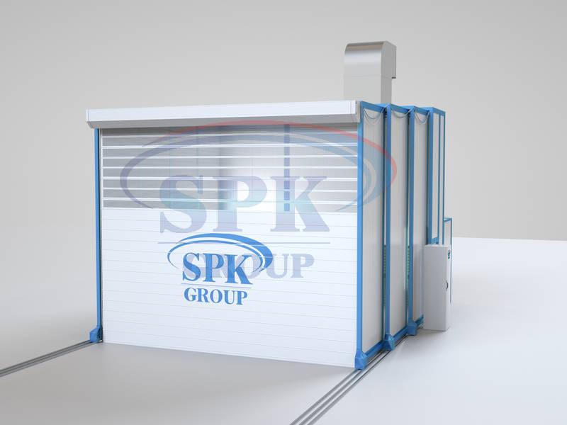 Окрасочная телескопическая камера для локомотиворемонтного производства SPK – 6.5.4