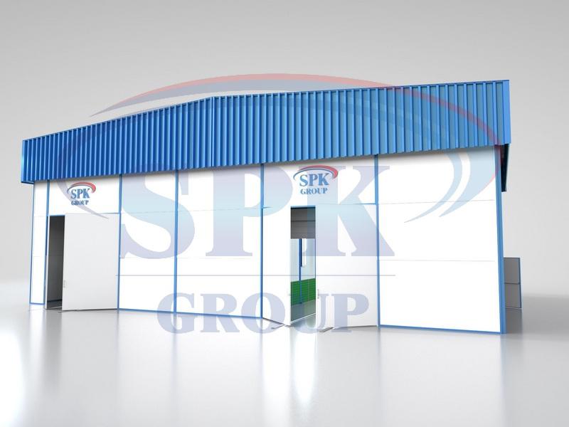 Комплекс подготовки поверхности, окраски и сушки проходного типа, уличного исполнения SPK-9.5.5