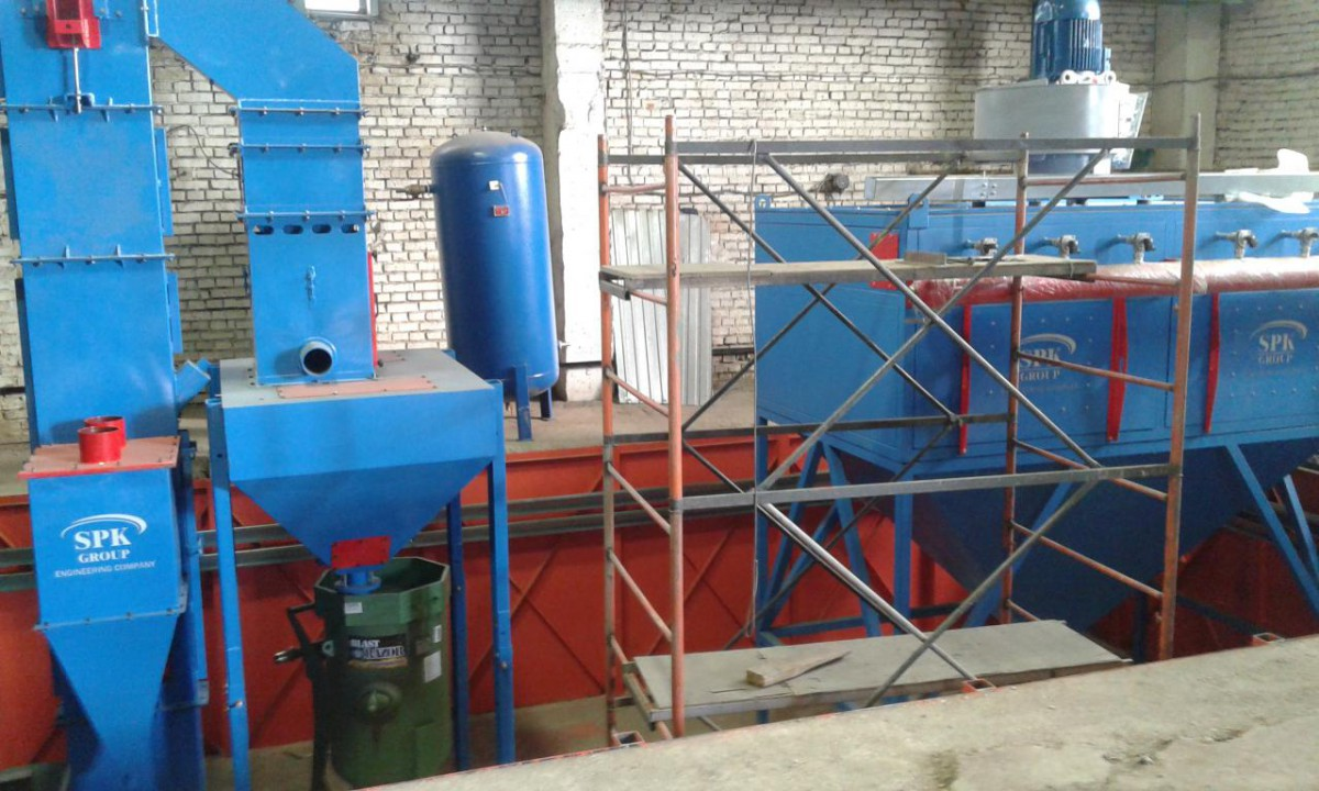 Разработка, изготовление и поставка системы рекуперации дроби и вентиляционно-фильтровальной установки для оснащения дробеструйной камеры
