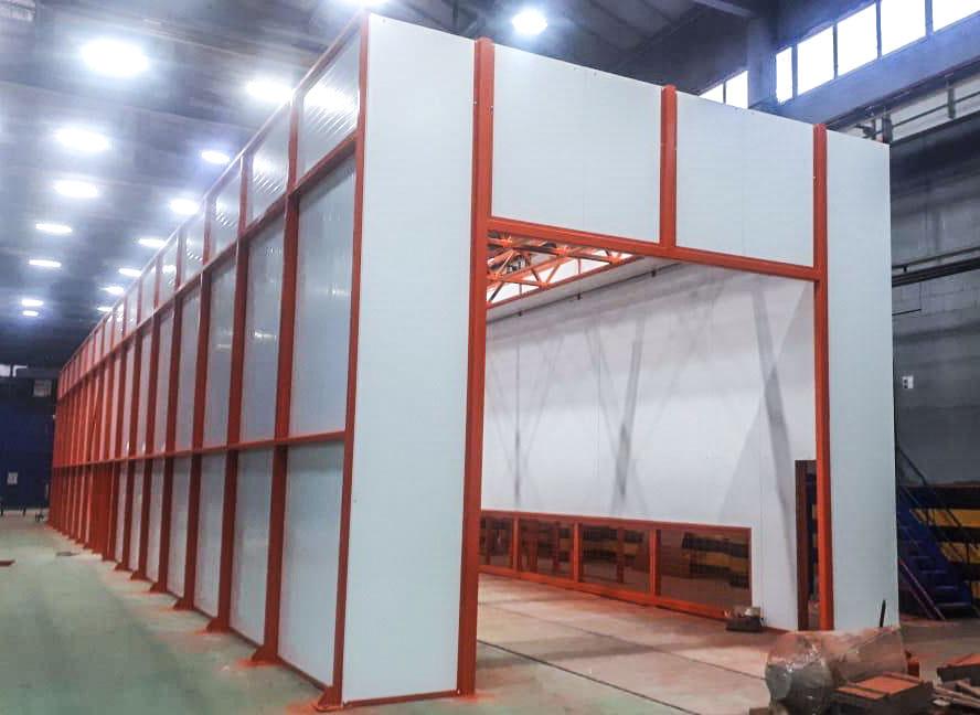 Оборудование для окрасочно-сушильного комплекса проходного типа SPK-36.6.5