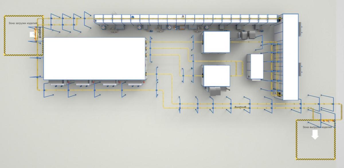 Автоматизированная линия окраски мостов коммерческого транспорта SPK