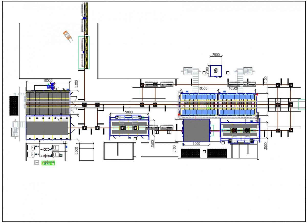 Конвейерная линия окраски деталей сельскохозяйственных машин SPK