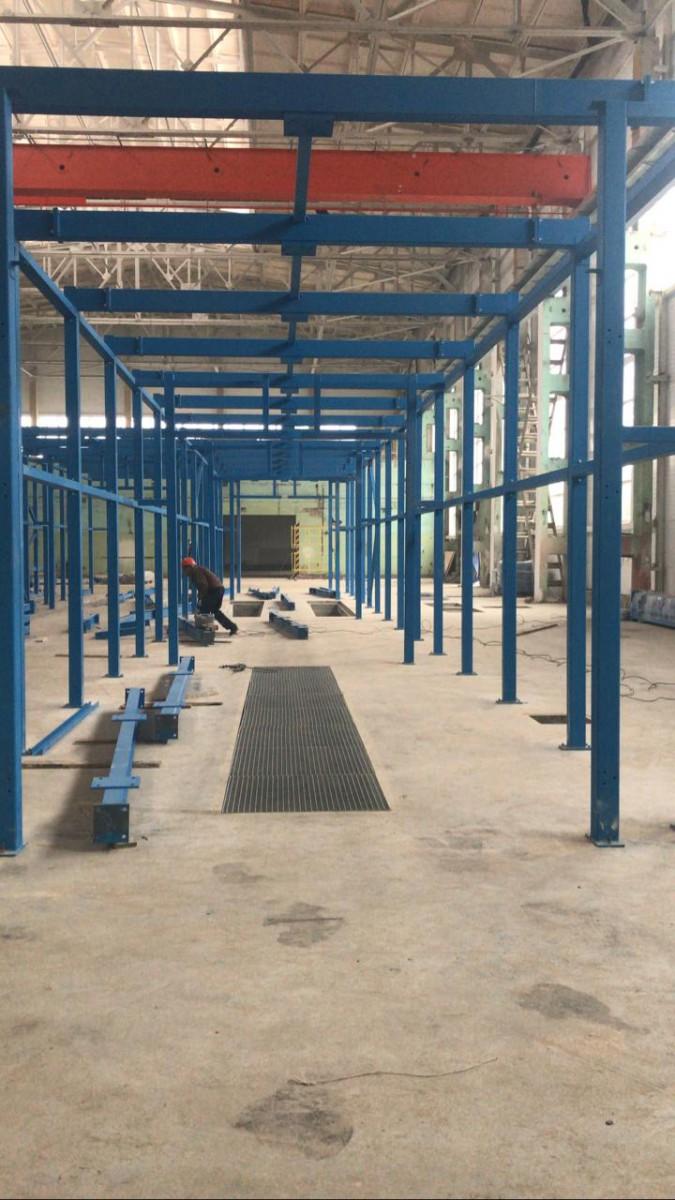 Комплекс подготовки поверхности, покраски и сушки для ж/д оборудования SPK-42.23.4, г. Тверь