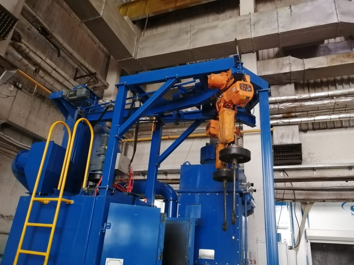 Поставка, монтаж и ввод в эксплуатацию оборудования дробеметной установки и дробеструйных камер SPK