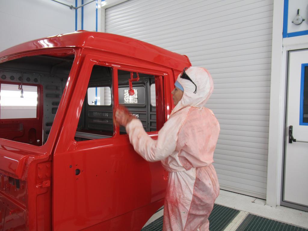 Камера покраски кабин грузовых автомобилей